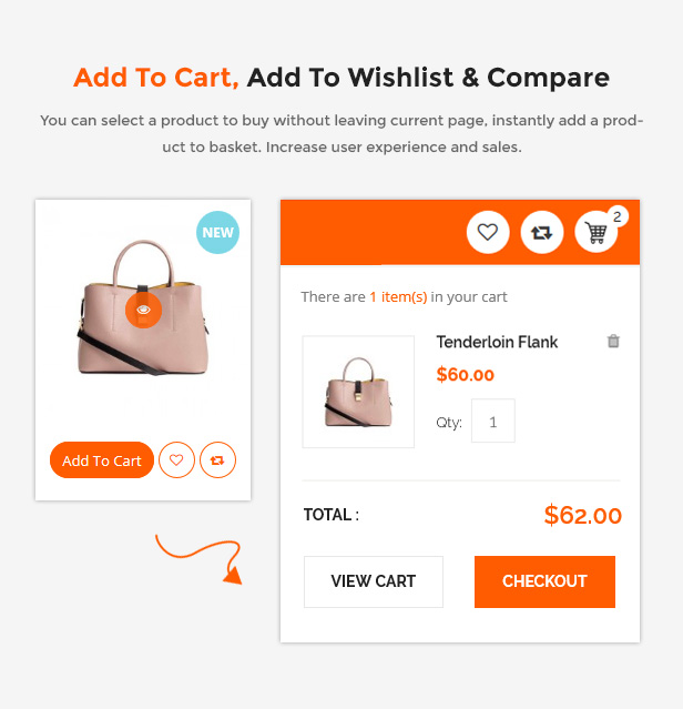 Responsive Prestashop Store Theme - Add to cart