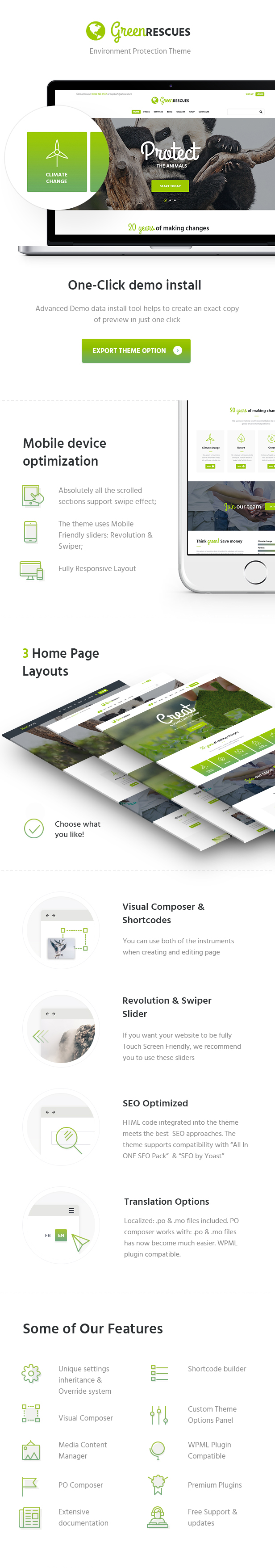 Green Rescues - Environment Protection WordPress Theme - 2