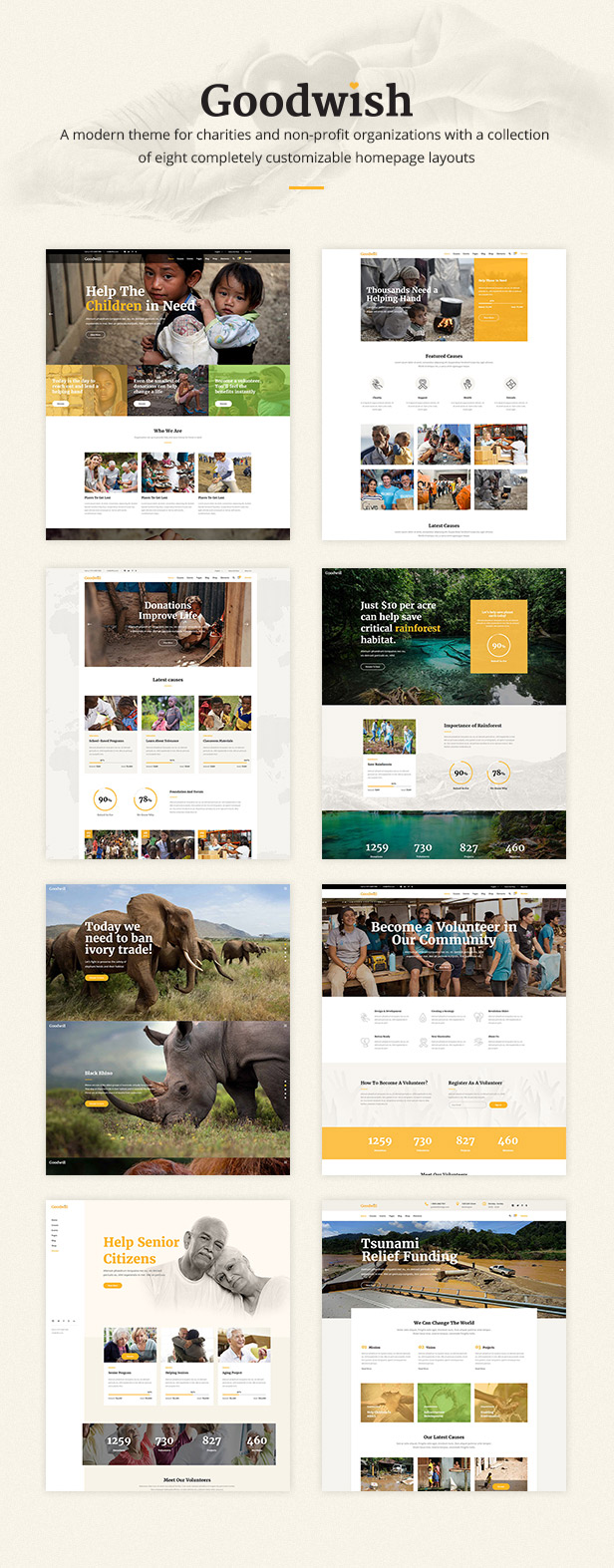 Goodwish - Charity, Nonprofit and Fundraising Theme - 1