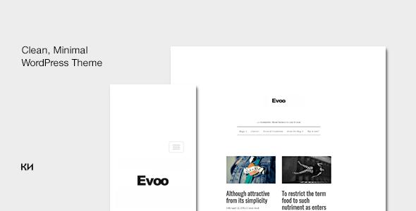 evolution minimal blog template by krasotaiskusstva themeforest