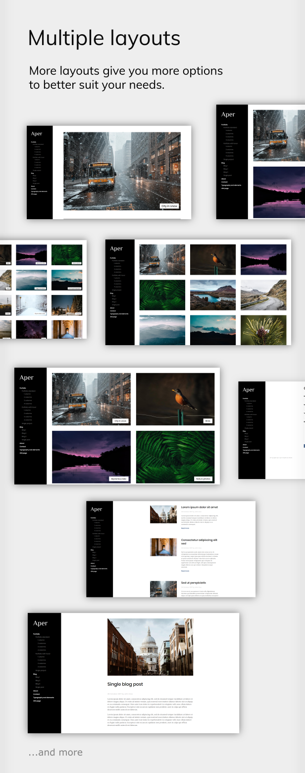 Aper - Responsive Creative Multi-purpose Portfolio Template - 3