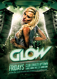 Design Cloud: Glow Club Flyer Template