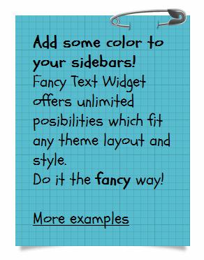 Fancy Text Widget - 1