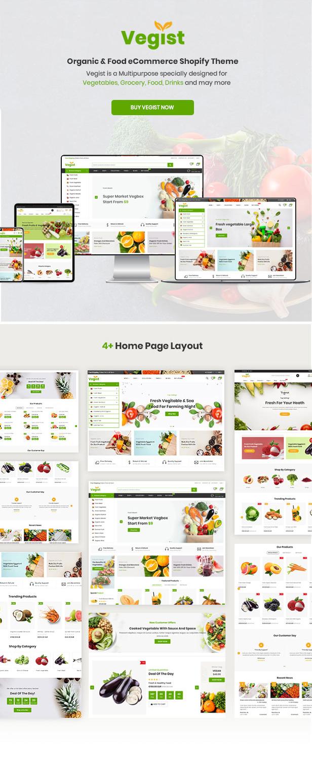 Vegist - The  Vegetables, Supermarket & Organic Food eCommerce Shopify Theme - 8