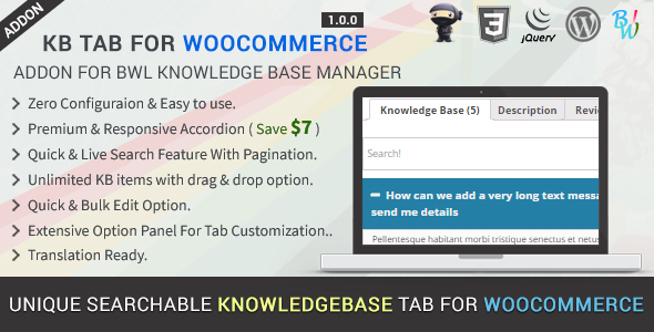 BWL Knowledge Base Manager - 18