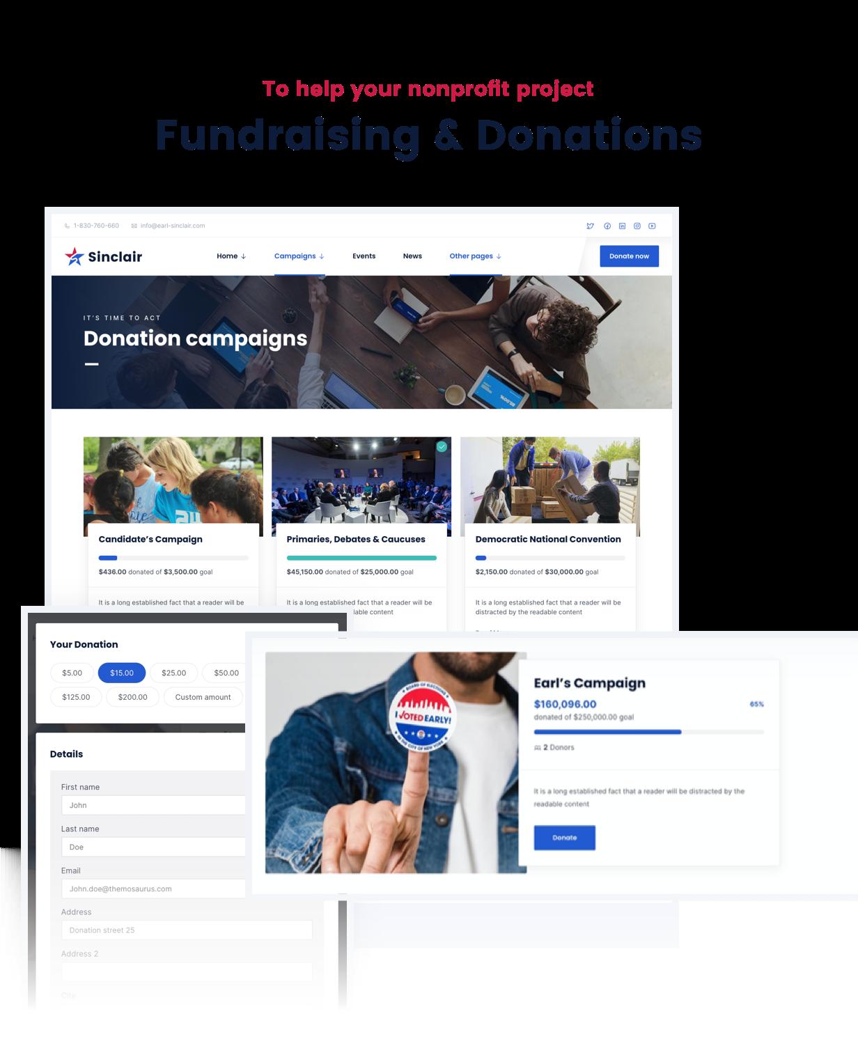 Sinclair - Political & Donations WordPress Theme - 3