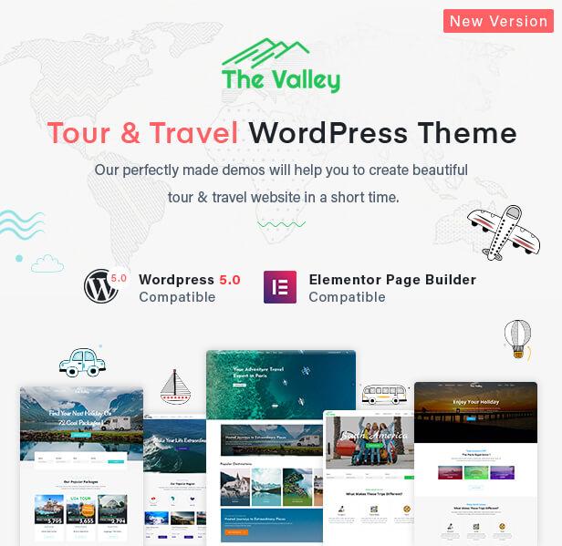 Valley - Tour & Travel Agency WordPress Theme - 1