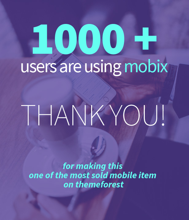 Mobix Mobile Template