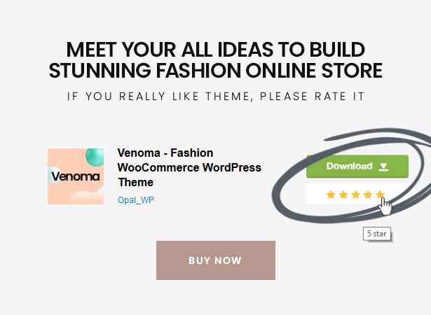 Venoma Powerful Fashion Shopping WordPress WordPress Theme