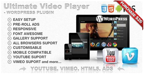 Ultimate Video Player with YouTube, Vimeo, HTML5, Ads - 8