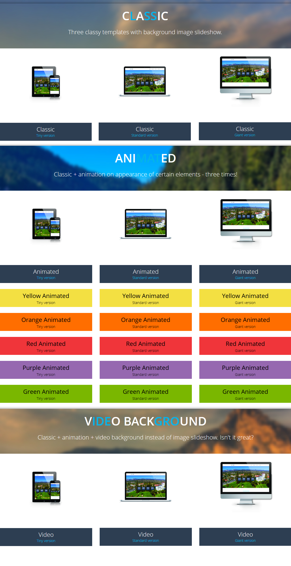 Sapphire - Responsive Coming Soon Page - 1
