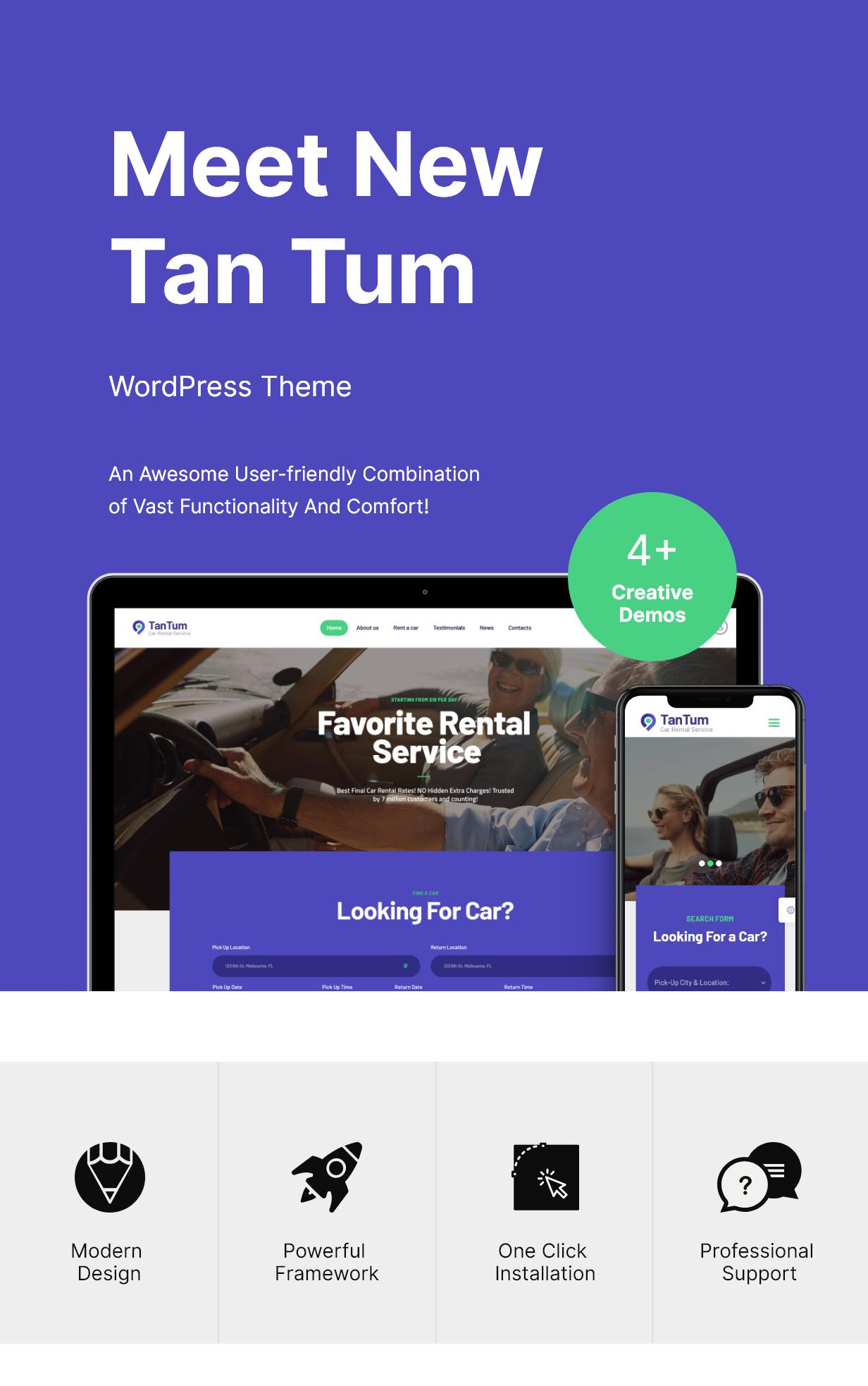 TanTum   Car, Scooter, Boat & Bike Rental Services WordPress Theme by AncoraThemes