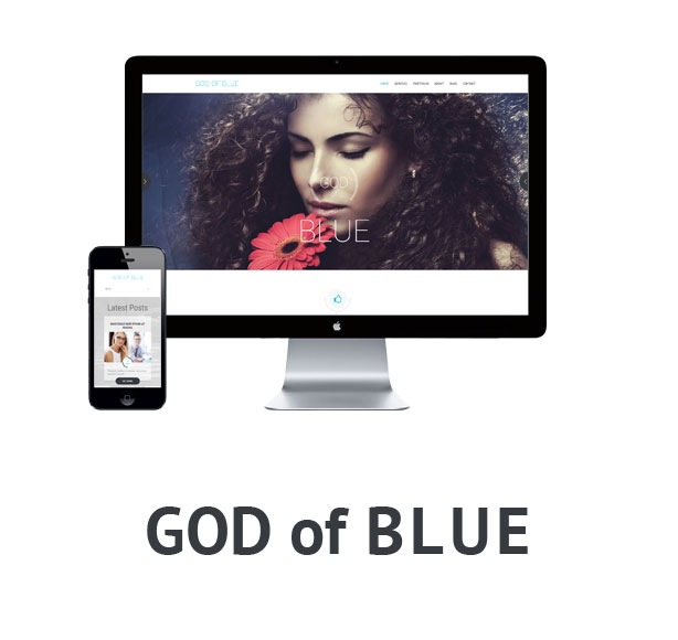 God of blue - Onepage / Multipurpose theme