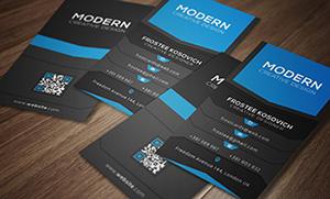 Modern Business Card Template No 5. - 1