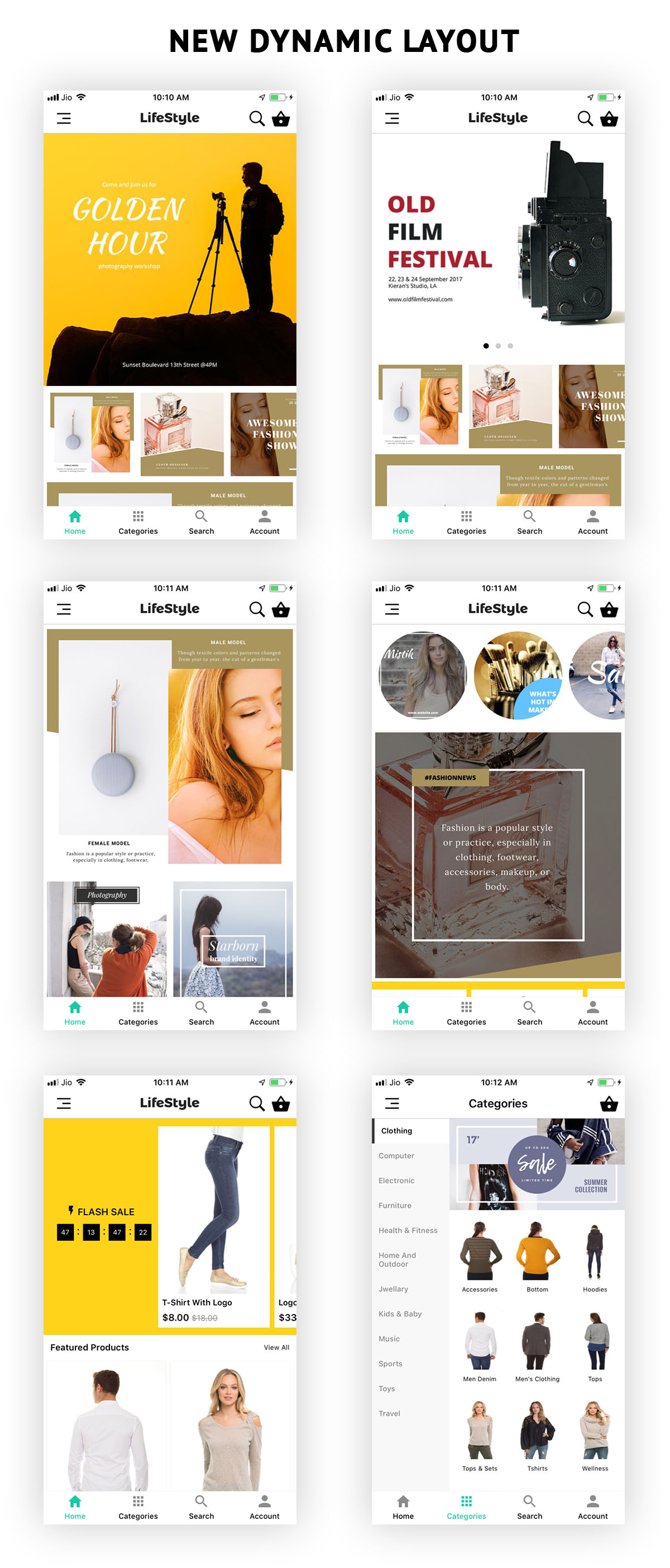 WooCommerce Mobile App ionic full application Lifestyle theme - 1