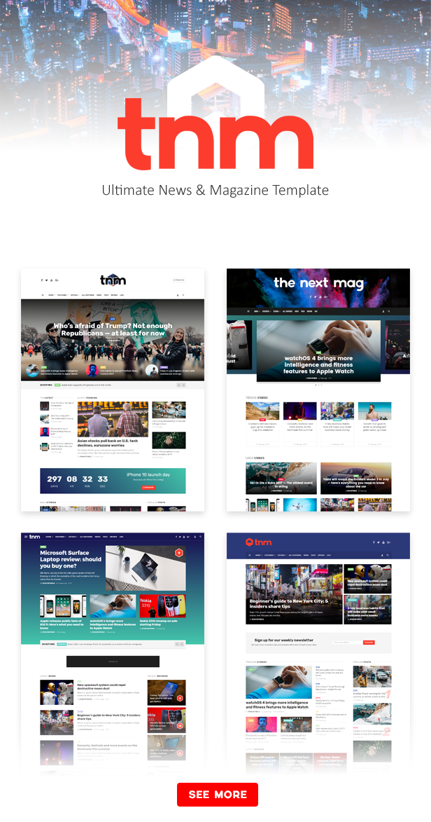The Next Mag - Ultimate News & Magazine Template - 1