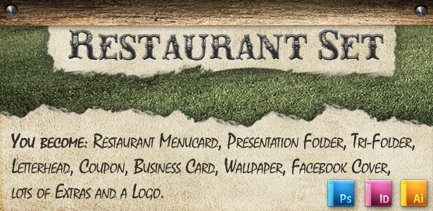Rustic BBQ Steak House Restaurant Set