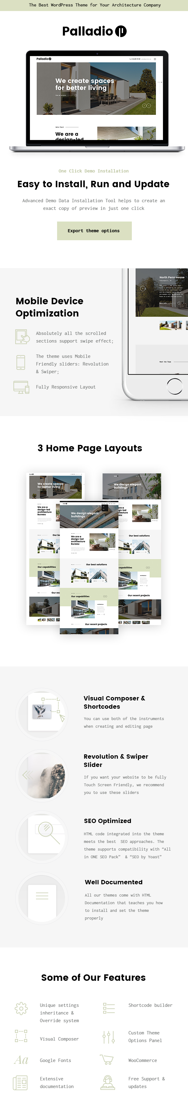 Palladio | Interior Design & Architecture WordPress Theme - 2