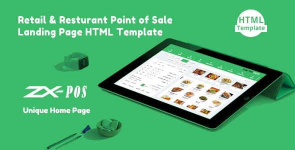 Zxpos - Sass Retail & Restaurant Point of Sale Landing Page HTML Template