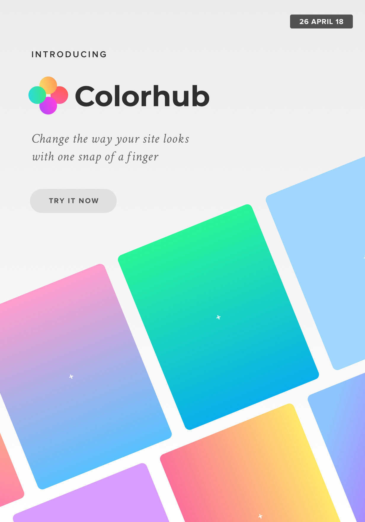 Introducing Colorhub - Change the way your website looks with just a snap