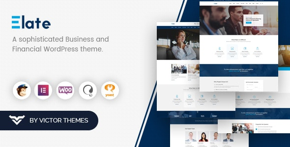 Elate | Financial Consulting WordPress Theme