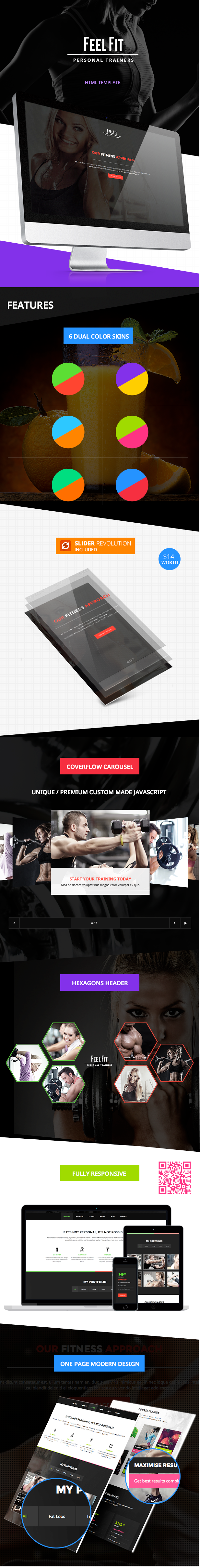 Personal Trainer - One Page HTML5 Template - 3