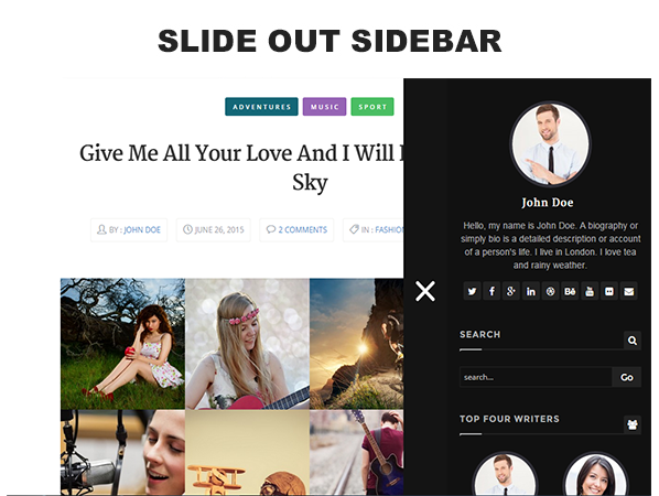 FlexyBlog - Responsive Personal Blog Template - 4