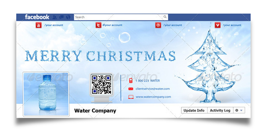 Christmas Real Estate Twitter Cover - 13