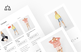 Compare products feature at Shella Shopify theme