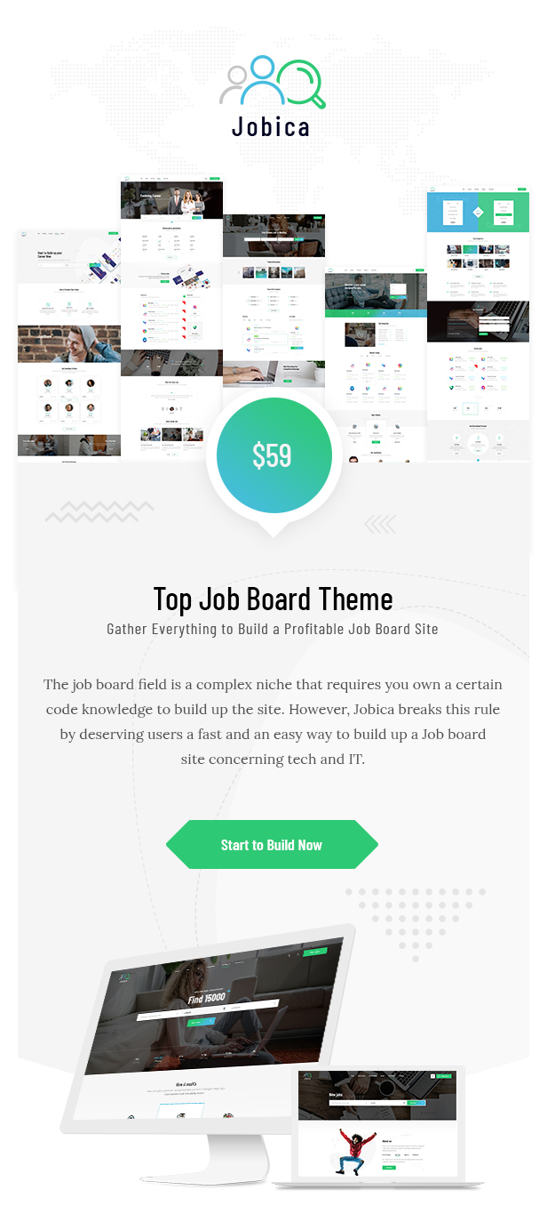 Jobica Tech Job Board WordPress Theme