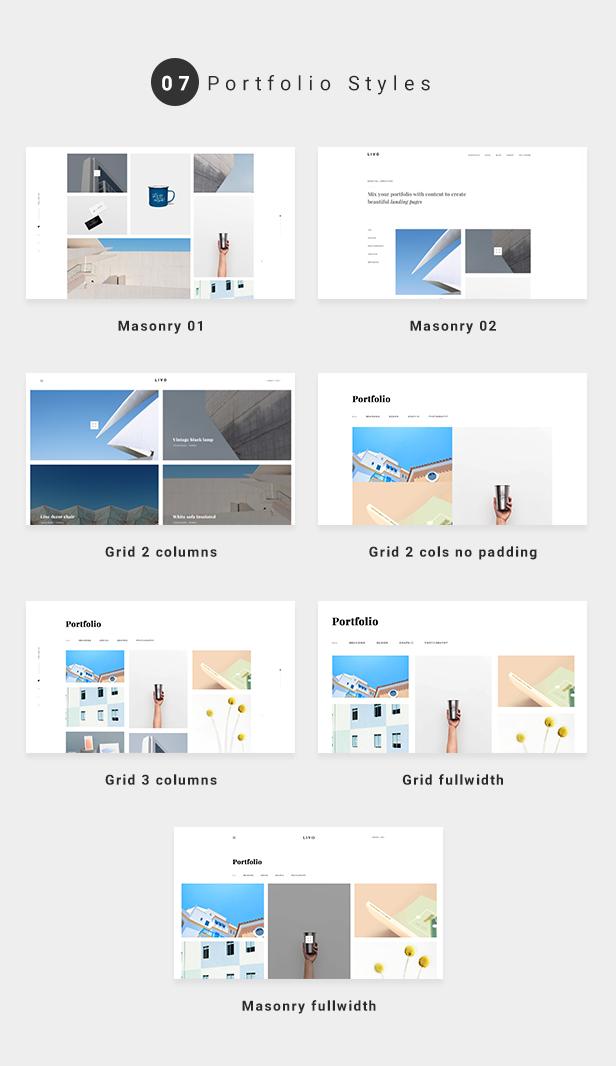 Livo - A Clean & Minimal Portfolio WordPress Theme - 3