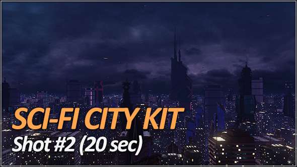 Sci-Fi City Pack - Establishing Shots - 4
