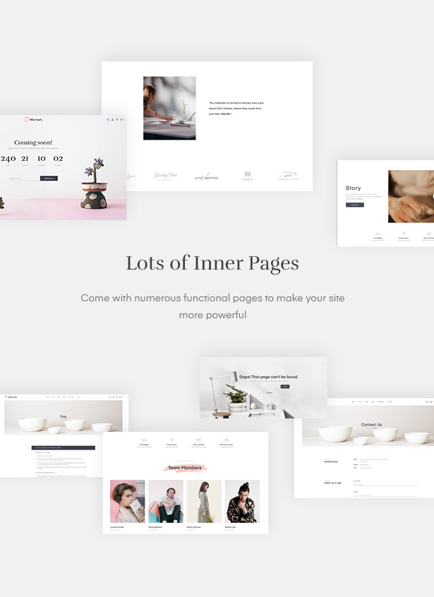 let's discover the flexibility of functional pages in Handmade Shop WordPress WooCommerce Theme