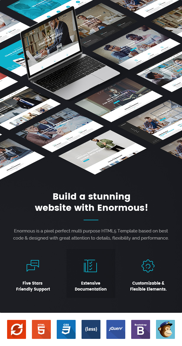 Enormous - Responsive Multi-Purpose HTML5 Template - 5
