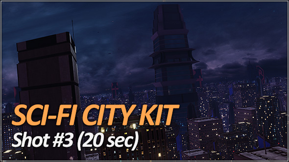 Sci-Fi City Pack - Establishing Shots - 5