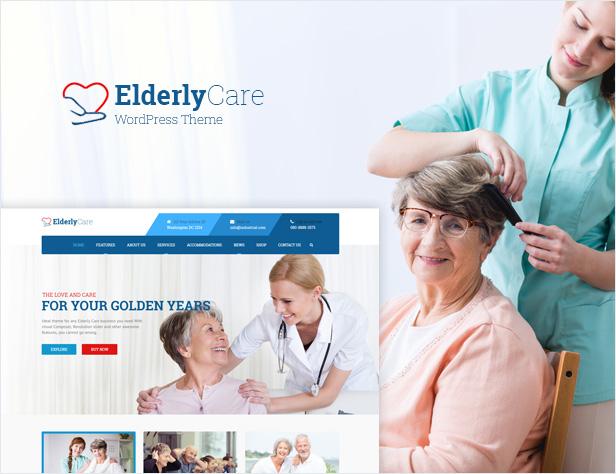 Elderly Care - Medical, Health and Senior Care WordPress Theme - 1