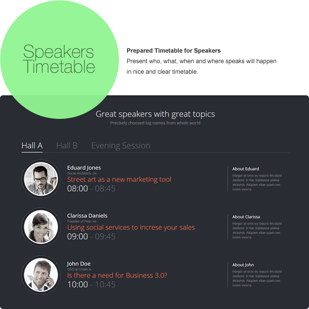 Infine - One Page Conference & Event Drupal Theme - 5
