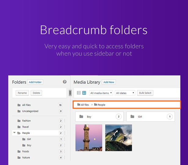 WordPress Media Library Folders - FileBase - 7