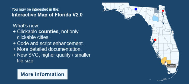 Interactive Map Of Florida By ClickMaps CodeCanyon - Detailed map of florida