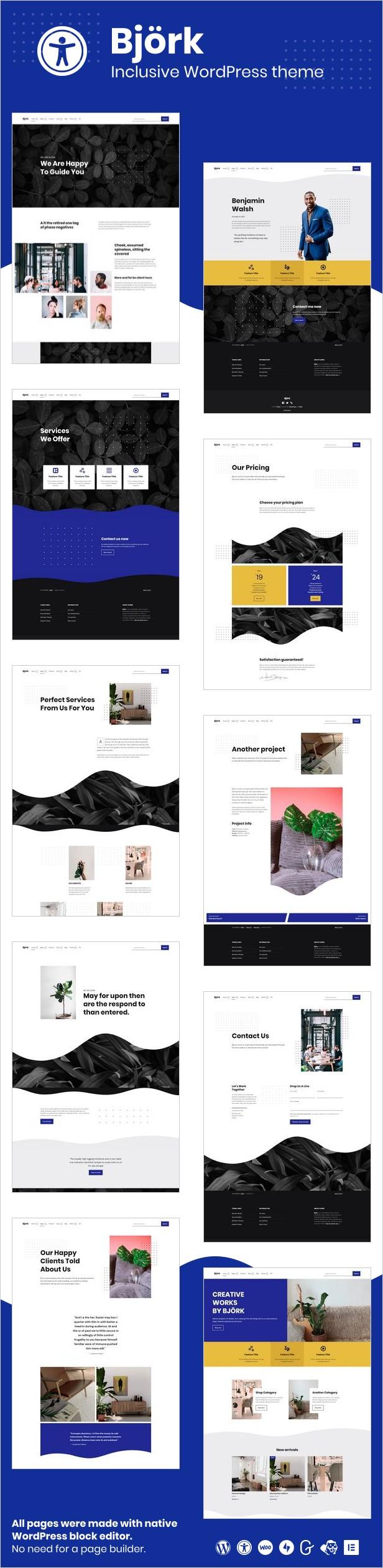 Bjrk - Accessible Portfolio WordPress Theme - 3