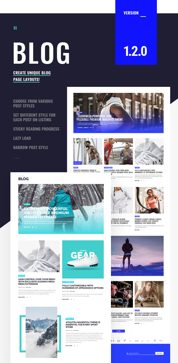 Athlete2 - Strong Magento 2 Theme - 2