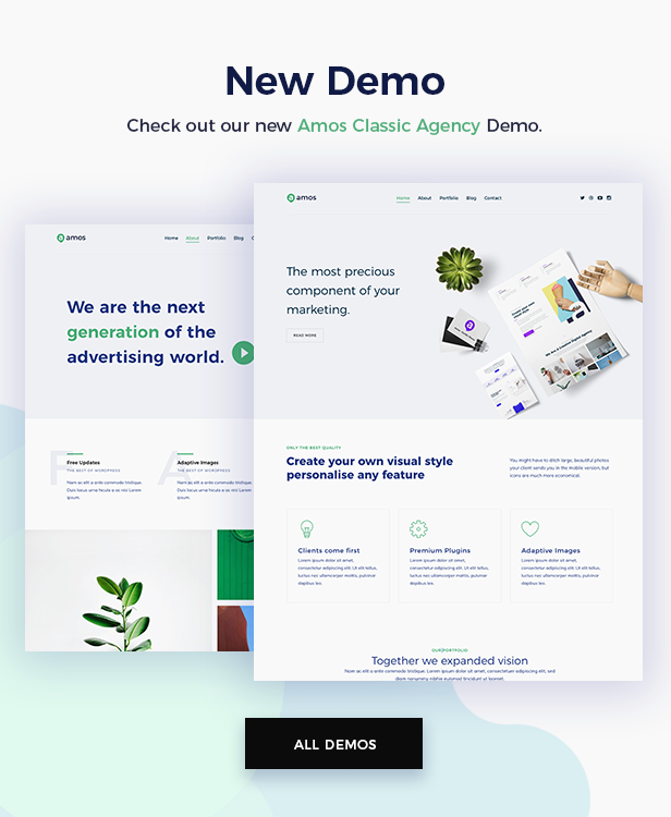 Amos - Creative WordPress Theme for Agencies & Freelancers by ellethemes