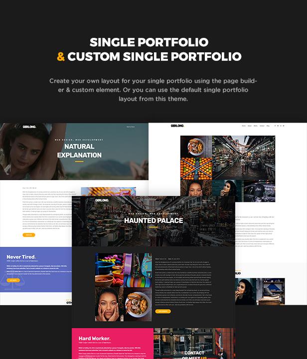 Gerlong - Responsive One & Multi Page Portfolio Theme - 6