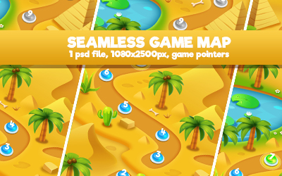 Island Palm Seamless Game Map - 2
