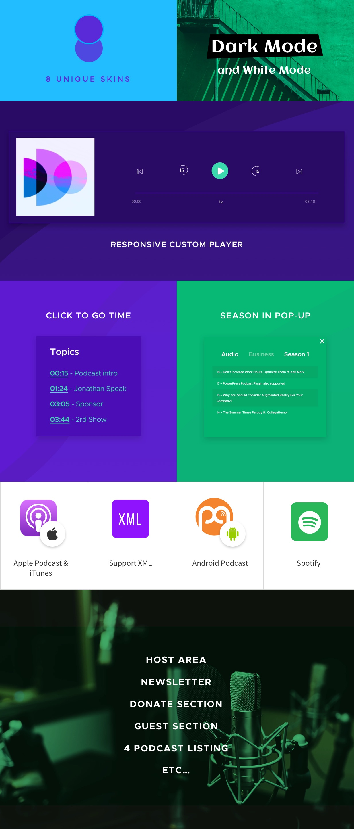 Fastcast - Podcast WordPress Theme