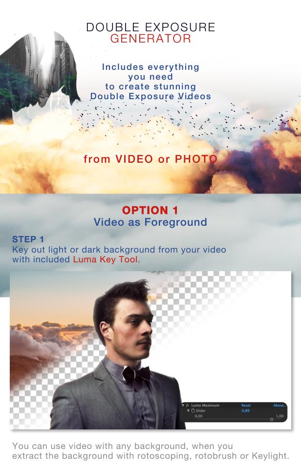 Videohive Double Exposure Generator