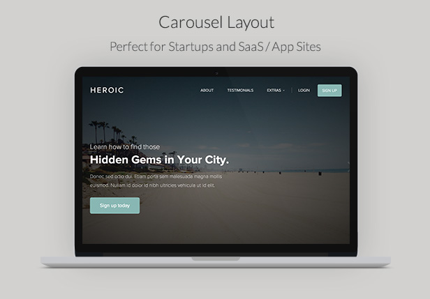 Heroic - Creative + Modern One Page HTML Template - 6