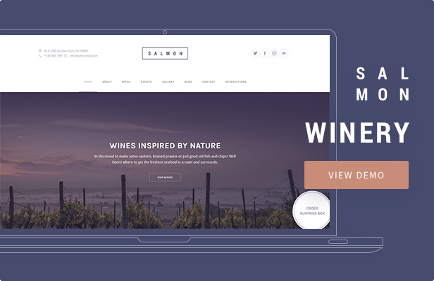 Salmon — Winery WordPress Theme