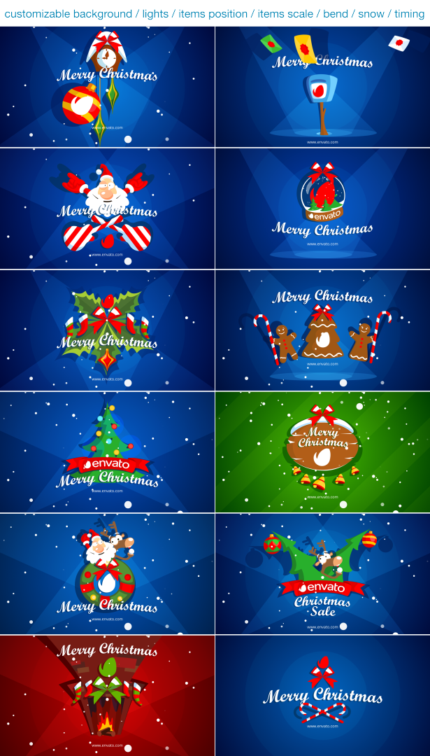 Christmas Pack Intro - Outro - Logo Openers - 2