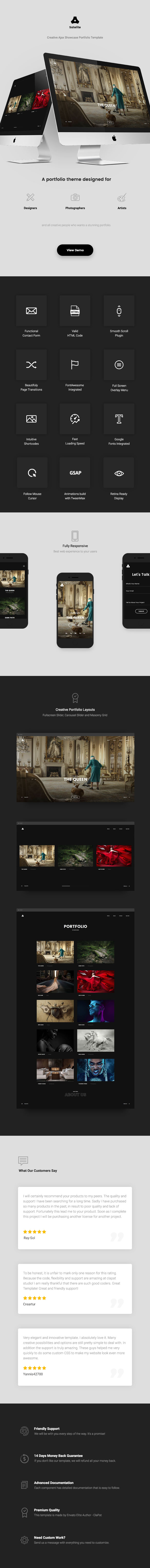 HTML showcase portfolio Satelite